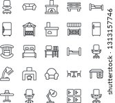 thin line icon set   cafe... | Shutterstock .eps vector #1313157746