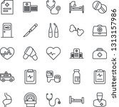 thin line icon set   medical... | Shutterstock .eps vector #1313157986