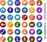color back flat icon set  ... | Shutterstock .eps vector #1313163143