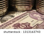 the us dollar and the bill of... | Shutterstock . vector #1313163743