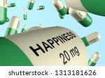 3d illustration antidepressant... | Shutterstock . vector #1313181626