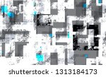 distressed grunge geometric... | Shutterstock .eps vector #1313184173