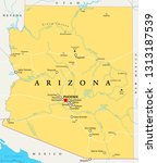 arizona political map with... | Shutterstock .eps vector #1313187539