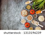 cereals  pulses and vegetables... | Shutterstock . vector #1313196239