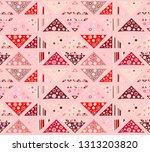 seamless vector pattern.... | Shutterstock .eps vector #1313203820