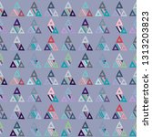 seamless vector pattern.... | Shutterstock .eps vector #1313203823