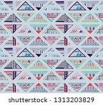 seamless vector pattern.... | Shutterstock .eps vector #1313203829