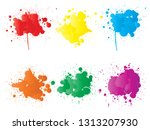 vector collection of artistic... | Shutterstock .eps vector #1313207930