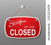 red closed sign eps10... | Shutterstock .eps vector #131321429