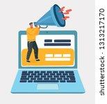 vector cartoon illustration of... | Shutterstock .eps vector #1313217170