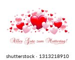 banner with hearts for mother's ... | Shutterstock .eps vector #1313218910
