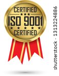 iso 9001 certified gold label ... | Shutterstock .eps vector #1313224886