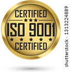 iso 9001 certified gold label ... | Shutterstock .eps vector #1313224889