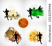 running marathon  people run  ... | Shutterstock .eps vector #1313235446