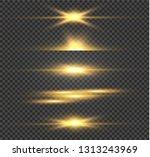 white glowing light explodes on ... | Shutterstock .eps vector #1313243969