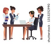 business teamwork meeting table | Shutterstock .eps vector #1313252990