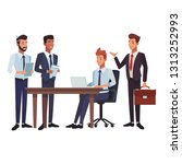 business teamwork meeting table | Shutterstock .eps vector #1313252993
