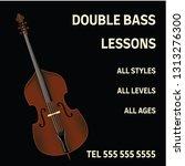 double bass lessons brochure... | Shutterstock .eps vector #1313276300