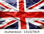 closeup of union jack flag | Shutterstock . vector #131327819