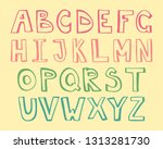 colorful alphabet for your... | Shutterstock .eps vector #1313281730
