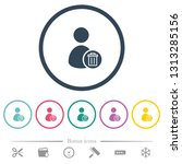 delete user account flat color...   Shutterstock .eps vector #1313285156