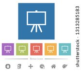 easel with blank canvas flat...   Shutterstock .eps vector #1313285183