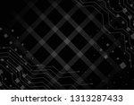 beautiful black abstract... | Shutterstock . vector #1313287433