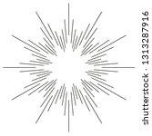 vintage monochrome sunburst ... | Shutterstock .eps vector #1313287916