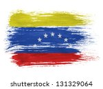 the venezuelan flag | Shutterstock . vector #131329064