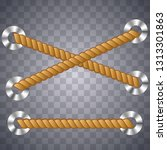 nautical rope. round and square ... | Shutterstock .eps vector #1313301863
