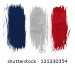 france. french flag  painted... | Shutterstock . vector #131330354