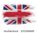 Britain. British Flag On White...
