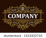 victorian decorative badges... | Shutterstock .eps vector #1313322710