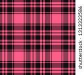 valentine day tartan plaid.... | Shutterstock .eps vector #1313323586