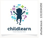 kids learning school logo... | Shutterstock .eps vector #1313334350