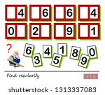logic puzzle game for children... | Shutterstock .eps vector #1313337083