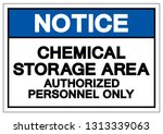 notice chemical storage area... | Shutterstock .eps vector #1313339063