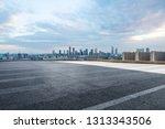 panoramic skyline and modern... | Shutterstock . vector #1313343506