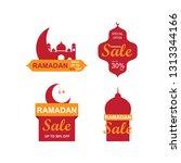 ramadan sale banners set... | Shutterstock .eps vector #1313344166