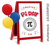 pi day  march 14  to celebrate... | Shutterstock .eps vector #1313350910