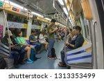 singapore   circa october  2018 ... | Shutterstock . vector #1313353499