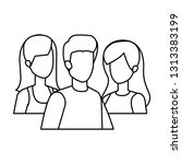 group of people characters | Shutterstock .eps vector #1313383199