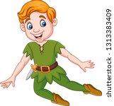 cartoon funny peter pan  | Shutterstock . vector #1313383409