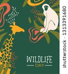 happy wildlife day illustration.... | Shutterstock .eps vector #1313391680