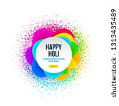 abstract happy holi banner with ... | Shutterstock .eps vector #1313435489