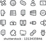 bold stroke vector icon set  ... | Shutterstock .eps vector #1313435846