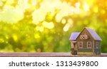 model cottage on natural... | Shutterstock . vector #1313439800