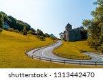 beautiful architecture at vaduz ...   Shutterstock . vector #1313442470