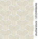 geometric pattern vector. gold... | Shutterstock .eps vector #1313446646