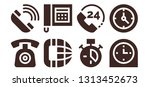 dial icon set. 8 filled dial... | Shutterstock .eps vector #1313452673